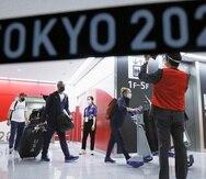 Llegada al aeropuerto de Narita en Tokio.