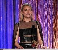 Kate Hudson durante una entrega de premios en el 2017. (Archivo)