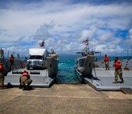 La Guardia Nacional fue activada el pasado 15 de marzo para que barcazas transportaran suministros debido a que varias embarcaciones que hacen el trabajo estaban fuera de servicio.