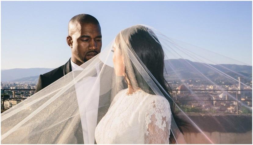 Kim Kardashian y Kanye West se casaron hace 5 años en Florencia, Italia.  (Instagram/@kimkardashian)