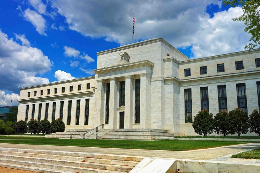 Fachada de la Reserva Federal de Estados Unidos, en Washington DC.