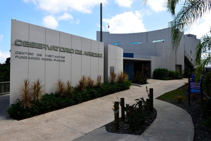 Edificio principal de las instalaciones científicas en el Observatorio de Arecibo.