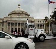 Los camioneros comenzaron a llegar a las 2:20 a.m. al Capitolio. (Archivo / GFR Media)