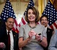 La speaker de la Cámara baja federal, Nancy Pelosi. (AP)