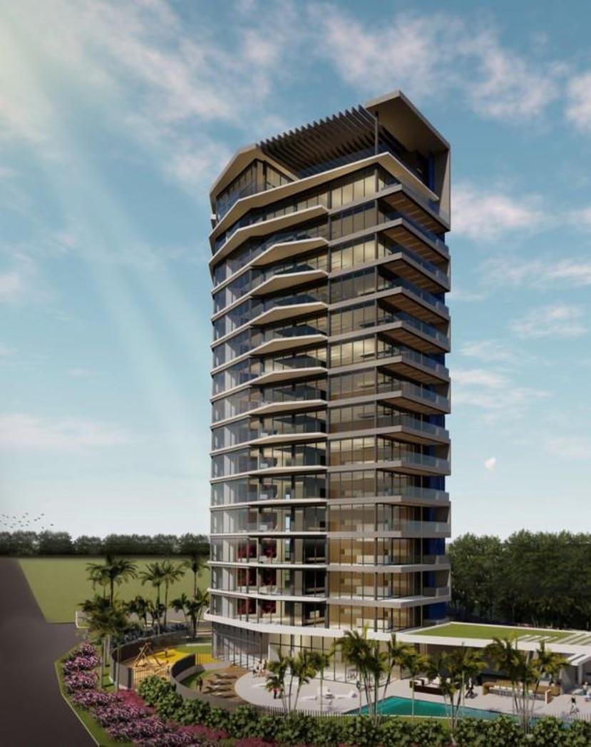 Arriba, una maqueta digital de la torre de residencias de lujo Ocean One, que se prevé comenzará construcción para mediados del 2020. (Suministrada)
