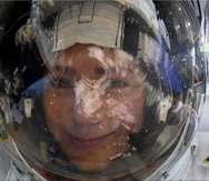 El selfie de la astronauta Jessica Meir. (Twitter/Jessica Meir)