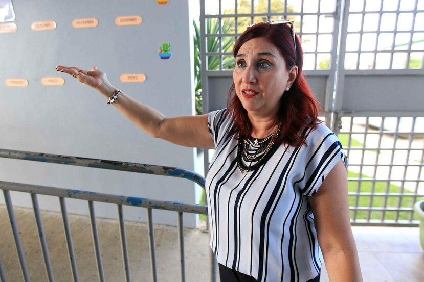 Lizette Rodríguez, directora de la escuela elemental Felipe Gutiérrez en Río Piedras.