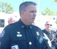 El jefe de la Policía de Collierville, Dale Lane, durante la conferencia de prensa en la que ofreció detalles sobre el tiroteo.