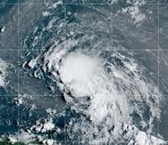 Imagen satelital de la tormenta tropical Laura.