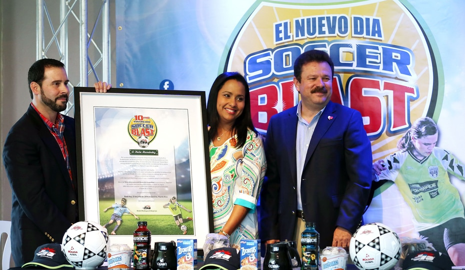 La reportera fue madrina del evento El Nuevo Día Soccer Blast en 2014. (GFR Media)