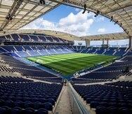 Imagen general del estadio Dragao en Oporto, Portugal, donde se disputará la final de la Liga de Campeones entre el Manchester City y el Chelsea.