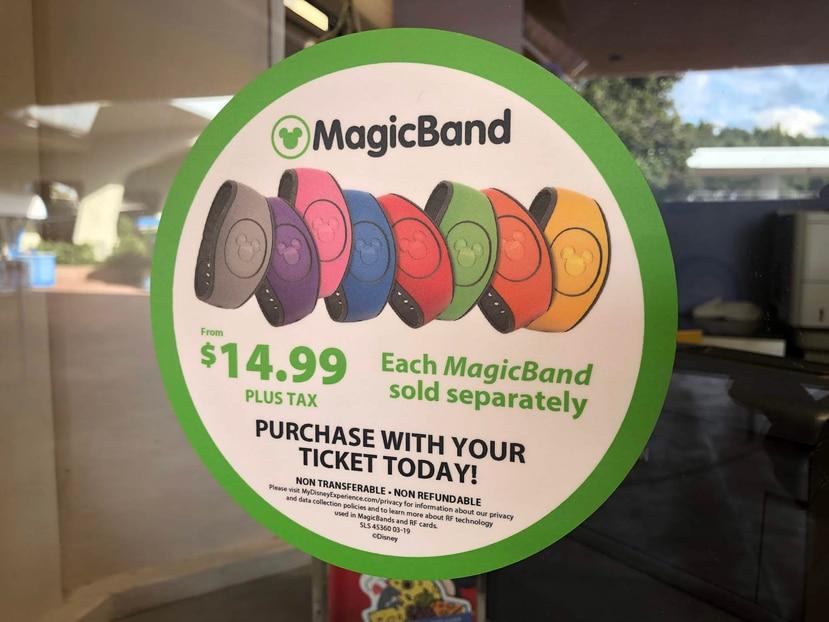 Los Magic Band siguen a la venta en la boletería de los parques, las tiendas y en el website de Disney desde $14.99 en adelante. (Gregoro Mayí/Especial GFR Media)