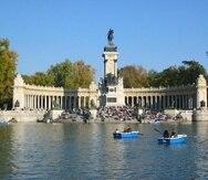 El Parque del Retiro es uno de los puntos turísticos claves en Madrid.