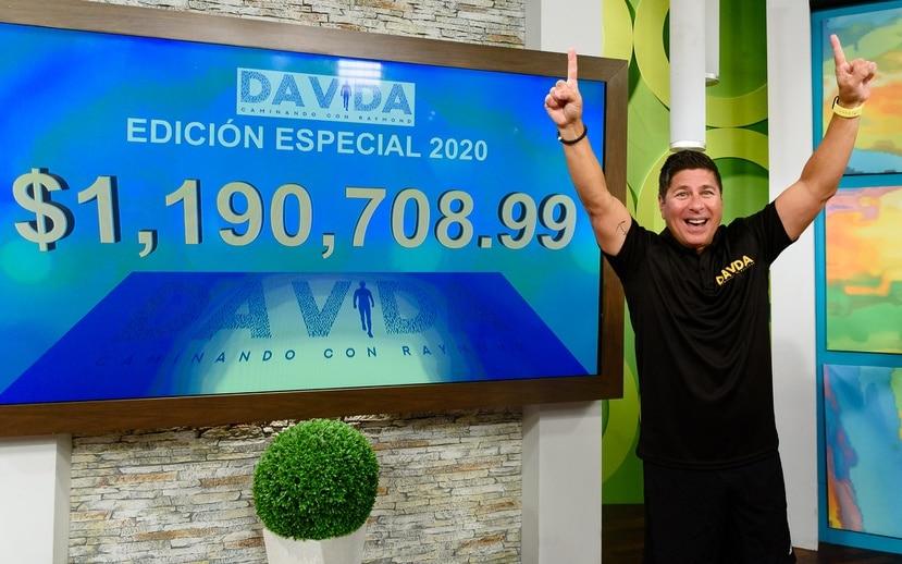 """El animador, comediante y filántropo Raymond Arrieta culminó la duodécima edición de la caminata """"Da Vida"""" 2020 sobrepasando la meta establecida de recaudar un millón de dólares."""