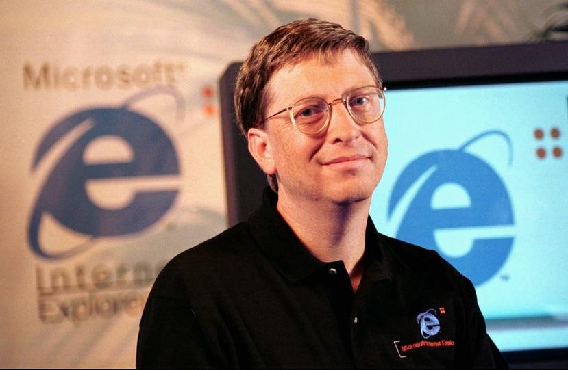 Bill Gates era el director de Microsoft durante la era en que Internet Explorer dominó el mercado de navegadores de Internet.