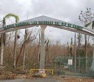 Entrada al Parque de las Cavernas del río Camuy después del azote del huracán María el 20 de septiembre de 2017.