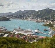 El puerto en Saint Thomas.