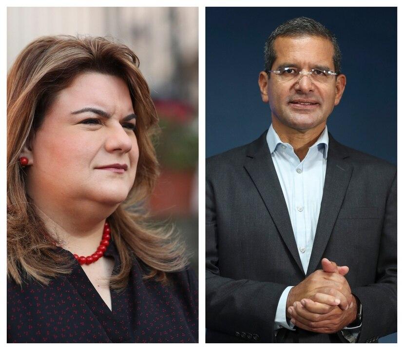 La comisionada residente Jenniffer González y el candidato a la gobernación por el PNP Pedro Pierluisi.