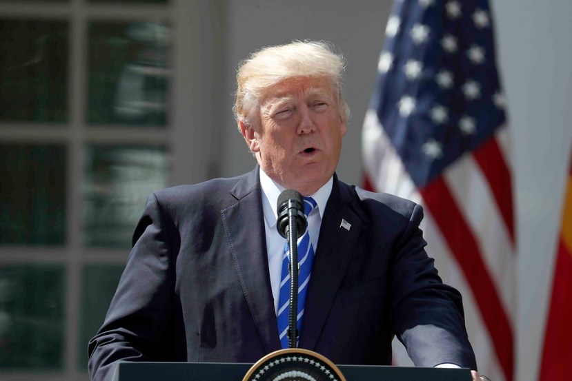 Trump spoke about the federal government initiatives earlier yesterday morning, during a meeting with members of the Federal Committee on Ways and Means of the Chamber of Representatives that are working on the tax reform. (AP)