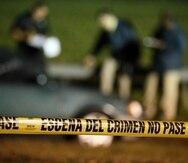 Imagen de archivo de la investigación de una escena del crimen.