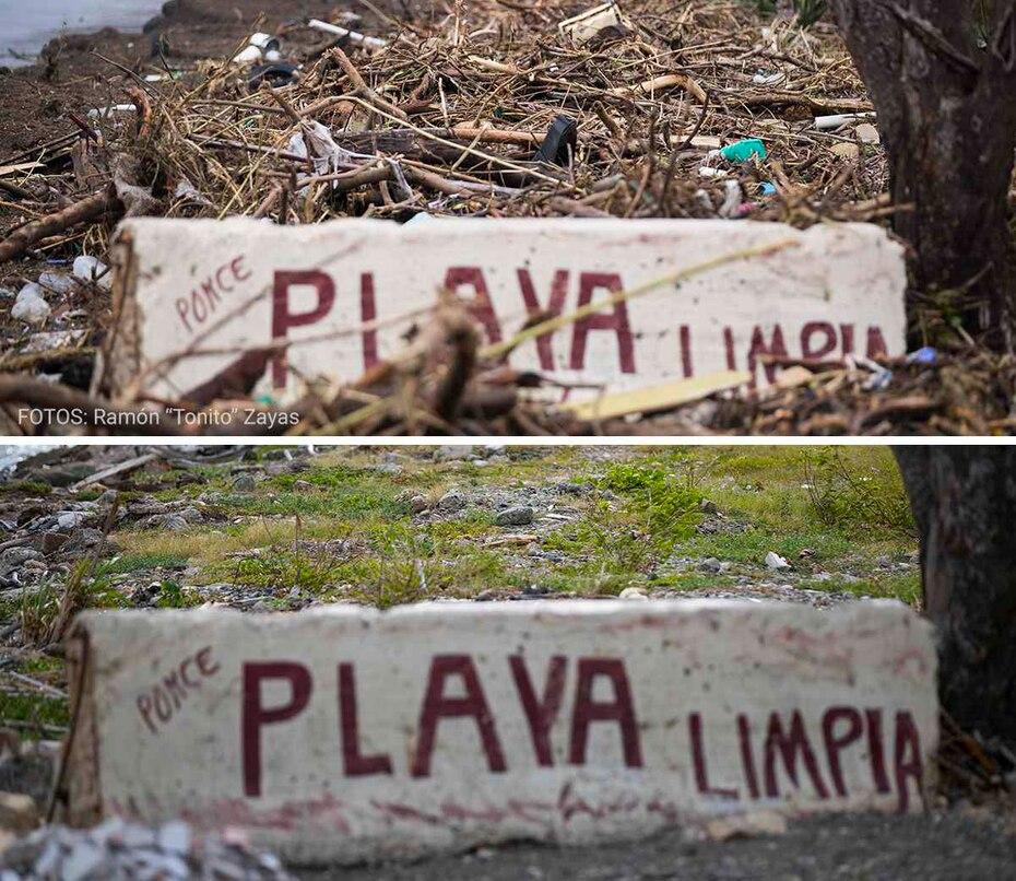 Antes y después desde el municipio de Ponce.