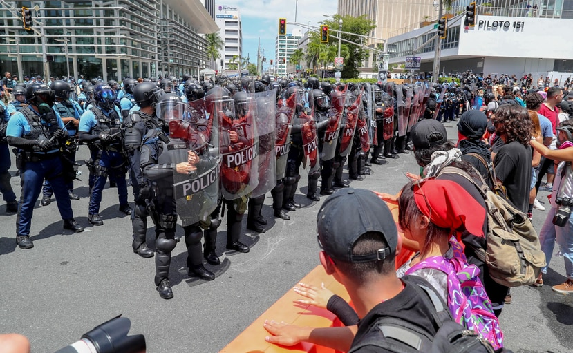 Los policías comenzaron a tomar los adiestramientos de manejo de multitudes el pasado mes de abril, previo a las manifestaciones del 1 de mayo. (GFR Media)