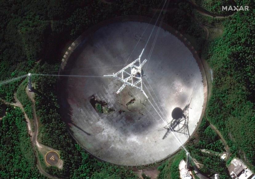 Vista del Observatorio de Arecibo, uno de los telescopios más importantes del mundo.