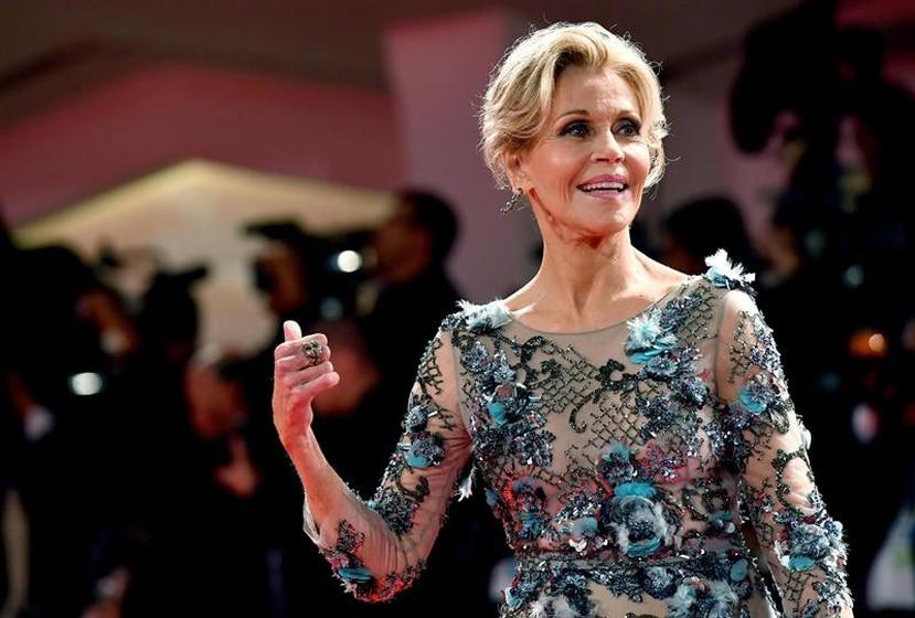 "Jane Fonda promociona la cuarta temporada de ""Grace and Frankie"". (EFE)"