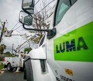 Vista de una brigada de LUMA Energy.