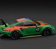 Modelo Porsche 911 RSR que manejará el puertorriqueño Giovanni Román Delgado en la carrera virtual del Porsche TAG Heuer Esports Sprint Trophy Latin America. (Suministrada)