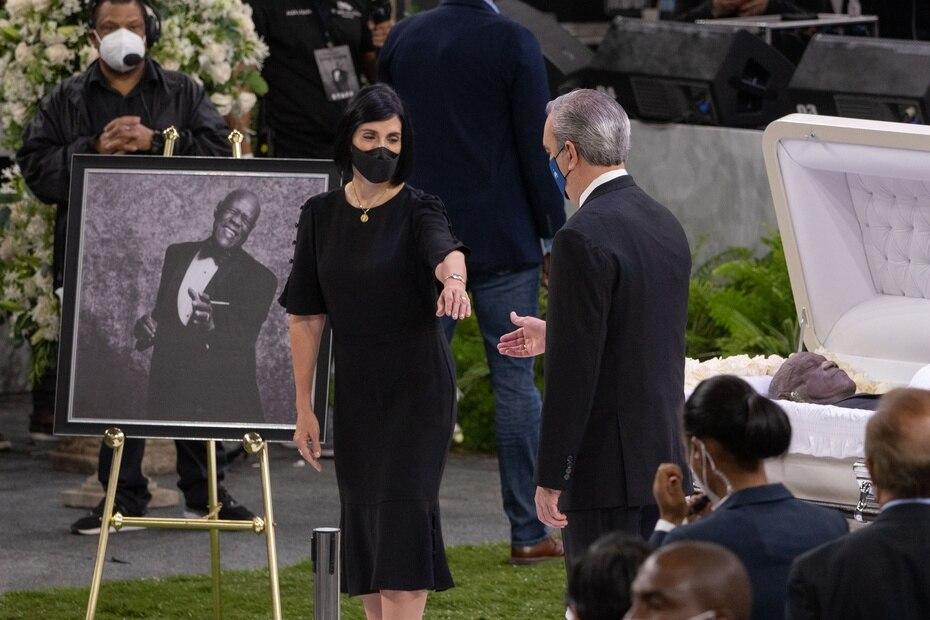Raquel Arbaje, primera dama de la República Dominicana, y el presidente Luis Abinader.