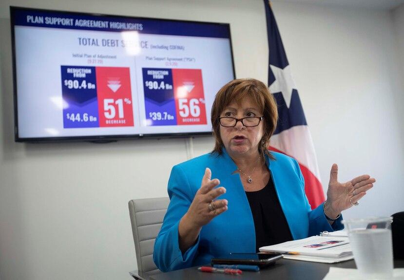 La directora ejecutiva de la JSF, Natalie Jaresko, aseguró que el nuevo acuerdo de reestructuración supone más ahorros para el gobierno.