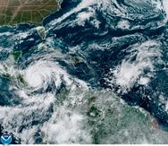"""El """"catastrófico"""" huracán Iota de categoría 5 cerca de Nicaragua, en noviembre de 2020."""