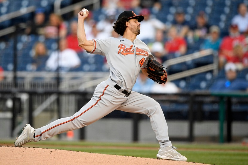 En lo que va de temporada, el derecho Jorge López tiene marca de 1-5 con efectividad de 6.00 en nueve aperturas con los Orioles.