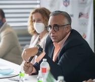 El presidente de Centro Caribe Sports, Luis Mejía, estuvo de visita en Puerto Rico en marzo.