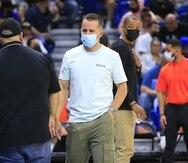 José Juan Barea, en la foto durante el partido entre los Cangrejeros de Santurce y los Vaqueros de Bayamón, está inactivo por una lesión en el tobillo izquierdo.