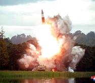 Corea del Norte realizó una  prueba de un motor para proyectiles. (AP)