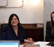 Dolmarie Méndez, CEO de Abartys Health, junto a la cofundadora Lauren Cascio (derecha).
