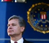 Christopher Wray, Director General del FBI, señaló que obtener la información cifrada no es tan fácil. (AP)