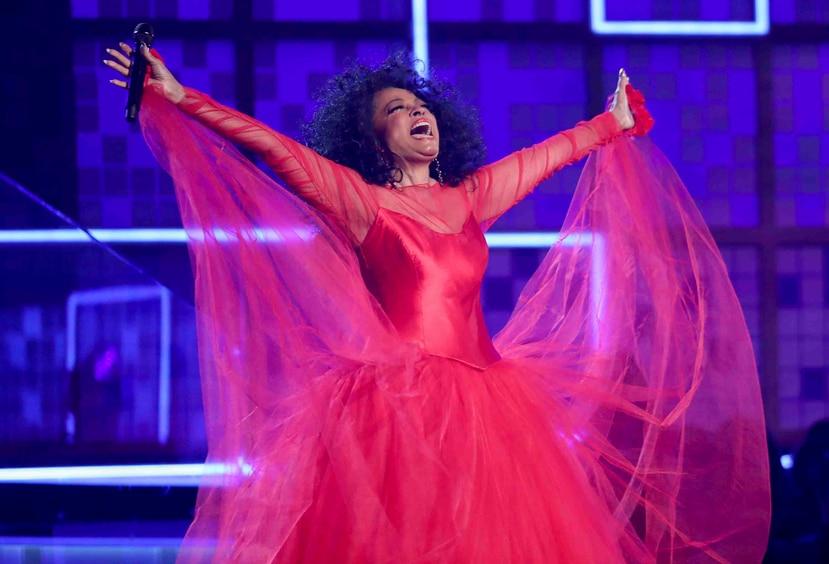 Diana Ross cantó varios de sus éxitos. (AP)