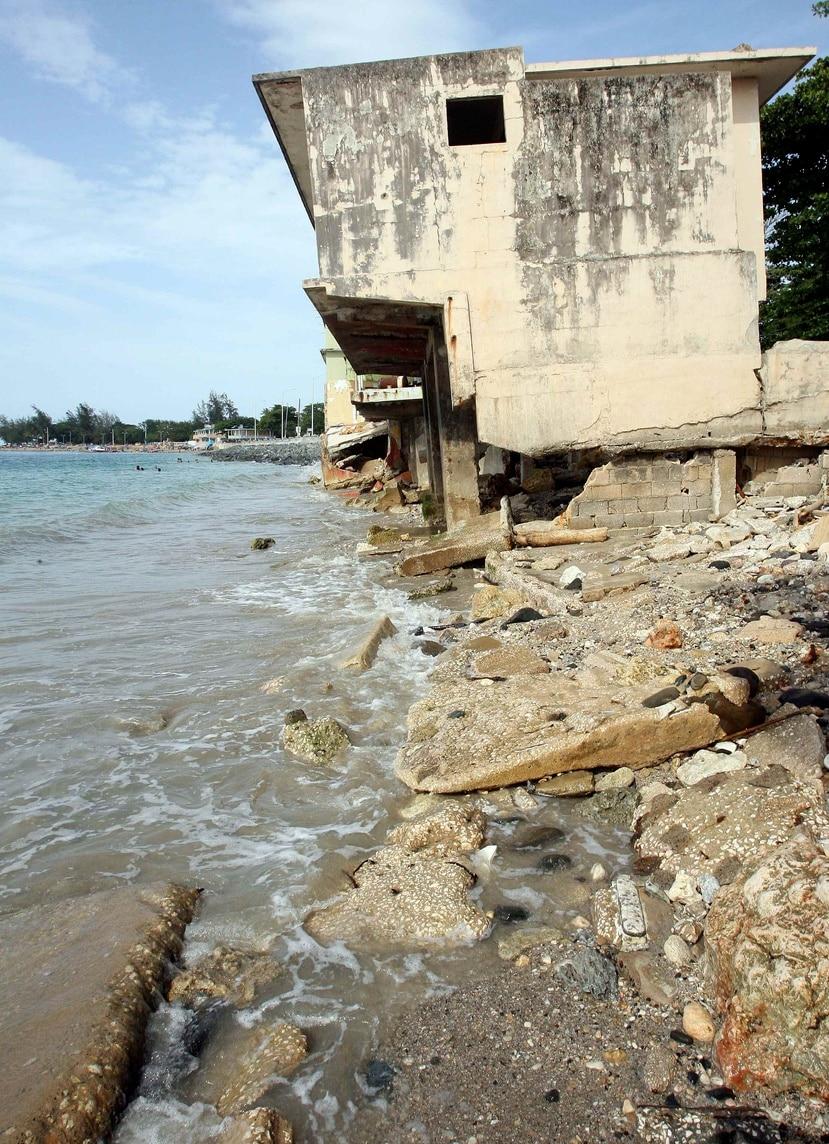 En la imagen, erosión costera en la Playa de Vega Baja. (GFR Media)