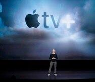 El presidente de Apple, Tim Cook, durante la presentación del Apple TV+ el año pasado en Cupertino, California.