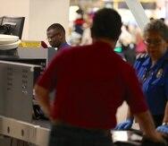 En el Aeropuerto Internacional Luis Muñoz Marín hay dos puntos de seguridad de TSA.