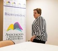 Aida Díaz renunciará a la presidencia de la Asociación de Maestros