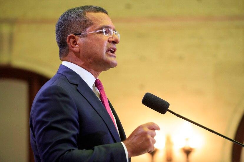 El gobernador Pedro Pierluisi durante su primer mensaje de estado de situación en el hemiciclo de la Cámara de Representantes.