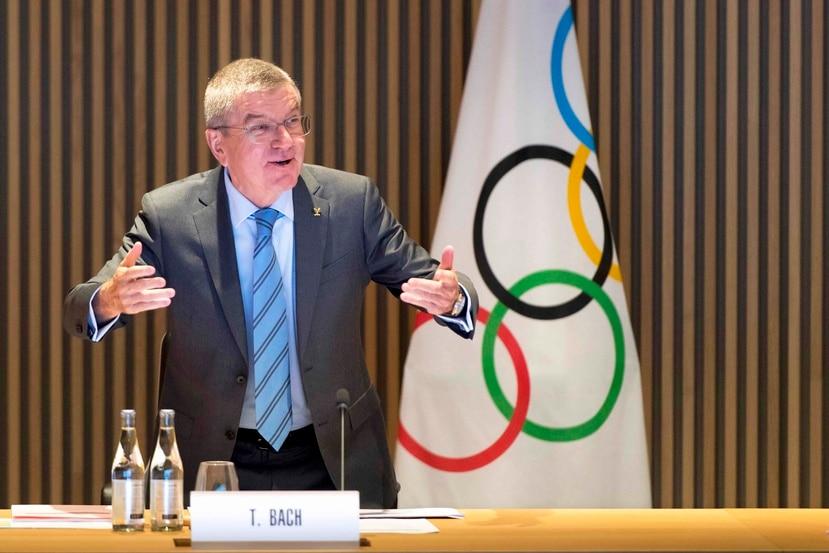 Thomas Bach, presidente del Comité Internacional Olímpico. (Agencia EFE)