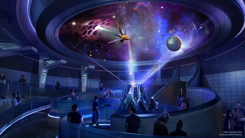 Como parte de 'Guardians of the Galaxy: Cosmic Rewind', los visitantes caminarán por el Xandarian Galaxarium dentro del pabellón Wonders of Xandar en Epcot.