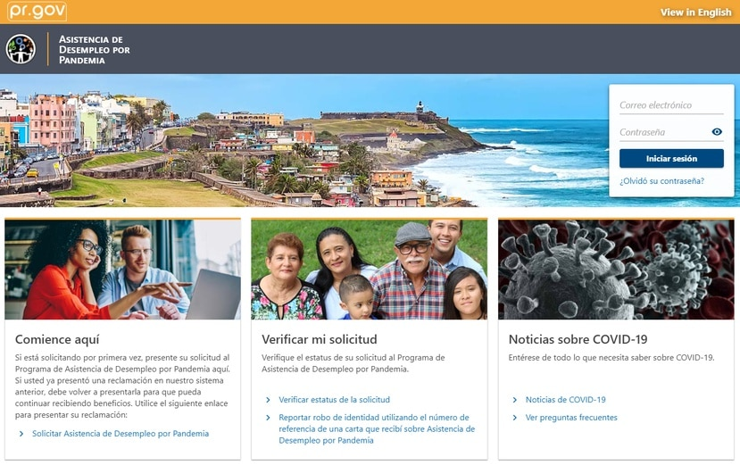 FastPUA, la plataforma del Departamento del Trabajo para solicitar el beneficio y otras informaciones.