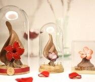 Diferentes versiones de flores hiperrrealistas hechas en chocolate que se convierten en obras de arte y en un regalo inolvidable.