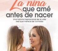 Portada del libro donde aparece la autora con su hija de tres años, Ailed.